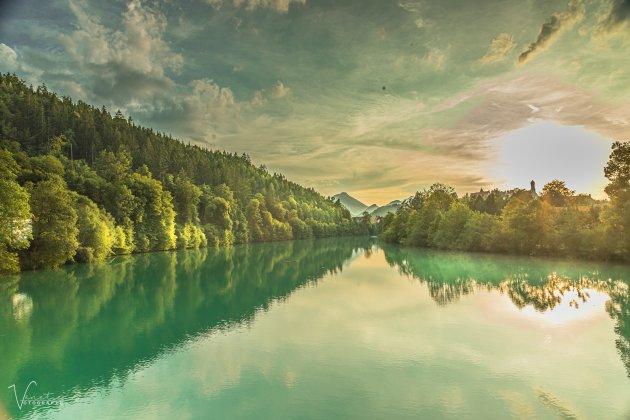Het meer naar Neuschwantein