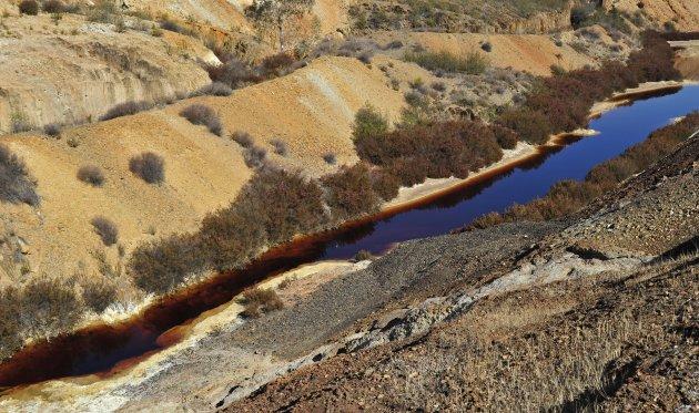 Landschap bij Mina de São Domingos ,district Mértola in de Alentejo / Portugal