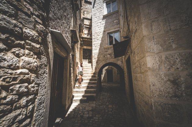 Verdwalen in Trogir.