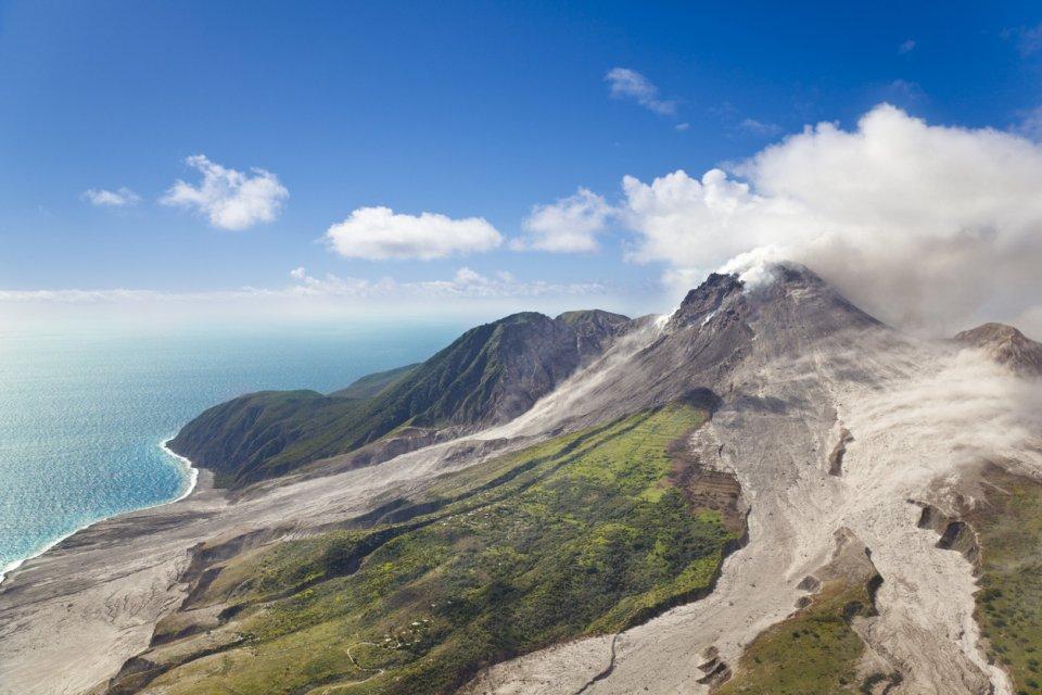 Soufrière vulkaan, Montserrat. Foto: iStock
