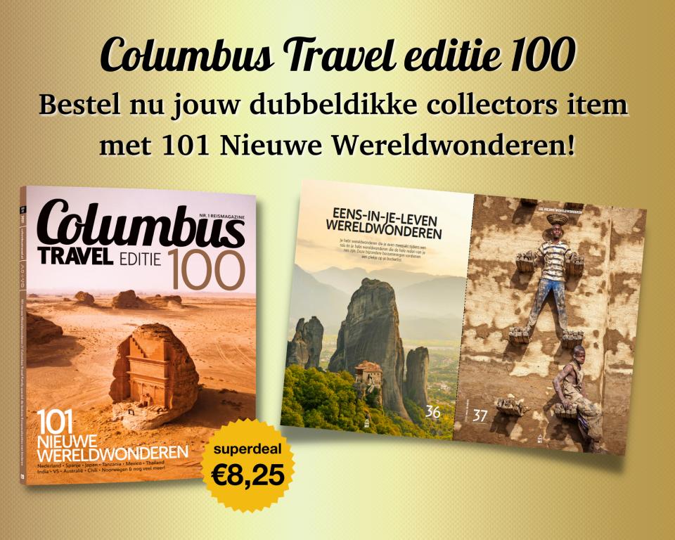 Columbus Travel editie 100 | 101 Nieuwe Wereldwonderen