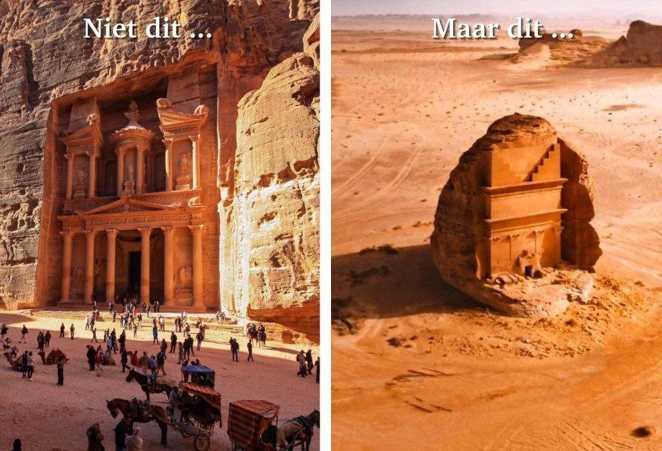 Petra, Jordanie versus Madain al Saleh, Saoudi-Arabie