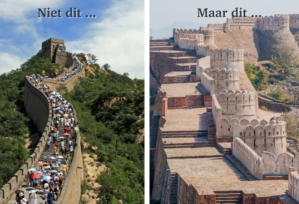 Chinese Muur versus Fort Kumbalgarh