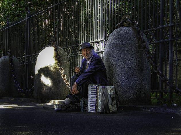 Een accordeonist in Rome