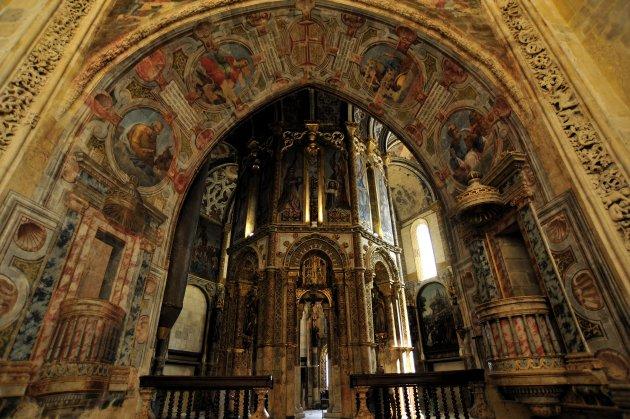 Charola in het Convento Do Christo Tomar Portugal