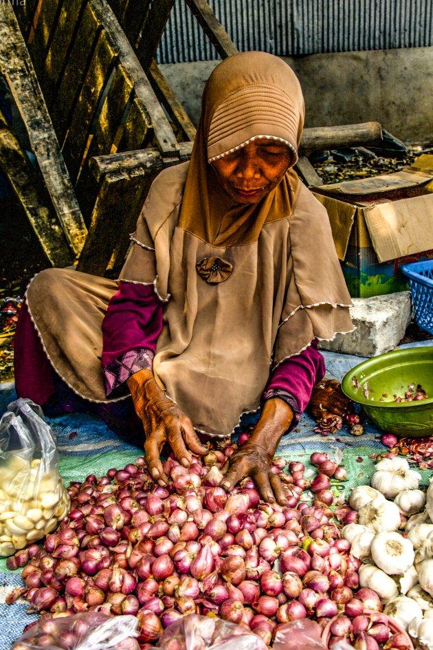 Markt op Flores