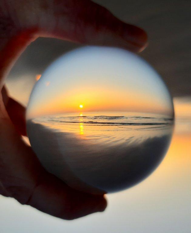 sunset in lensbal