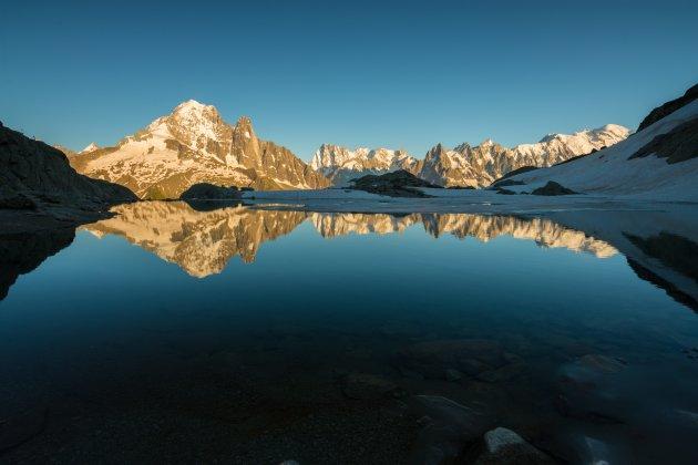 Slapen bij Lac Blanc