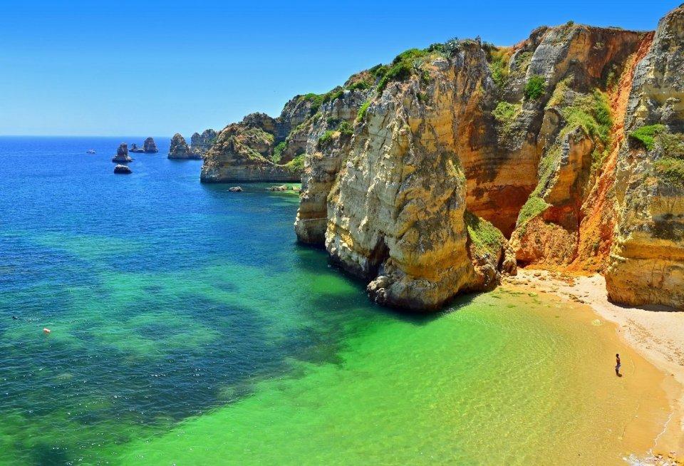 Praia Dona Ana in Portugal. Foto: Getty Images