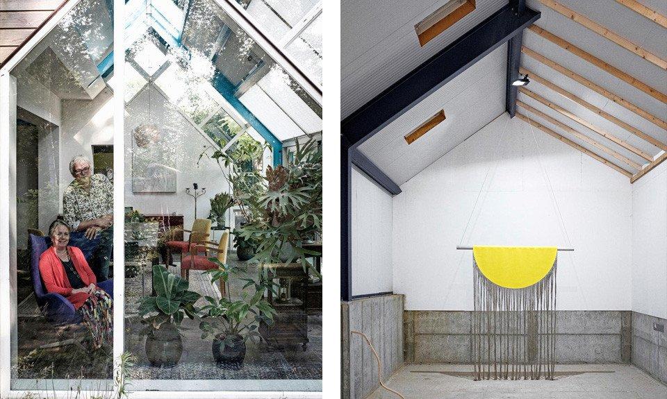 Kunst achter het huis van Jan Willem Kok en Janke Westra CREDIT Tim Bilman