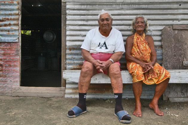 eiland bewoners van huahine
