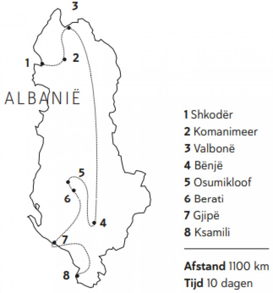 Milene en Yuri - kaart Albanië