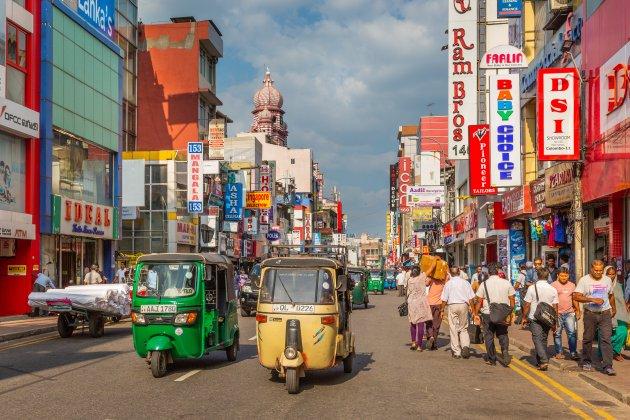 Winkelstraten in Colombo