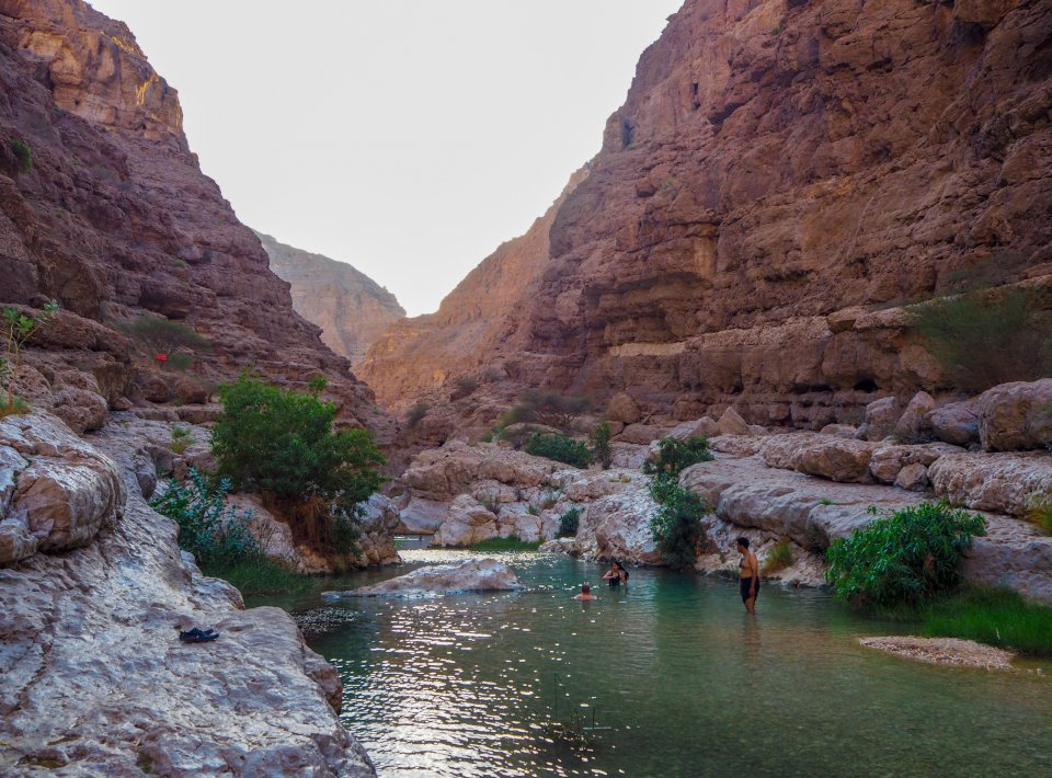Wandeltochten Wadi Shab in Oman CREDIT iStock