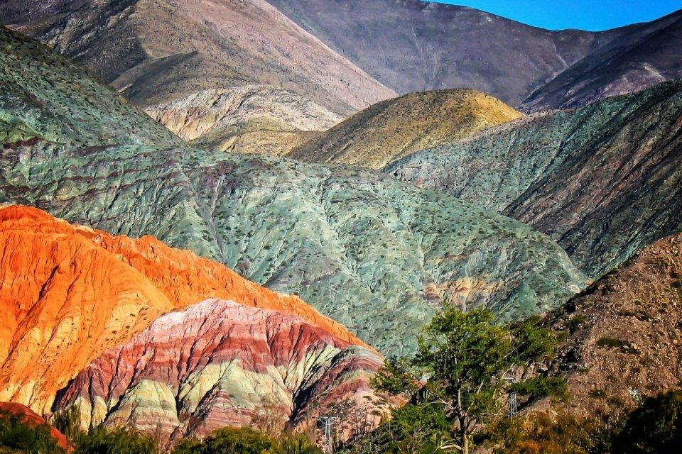 Wandeltochten - Cerro de los Siete Colores in Argentinië CREDIT Getty Images
