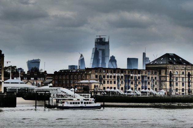 Uitzicht vanaf Canary Wharf