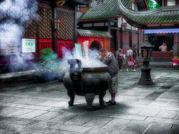 Grote tempel in Chengdu