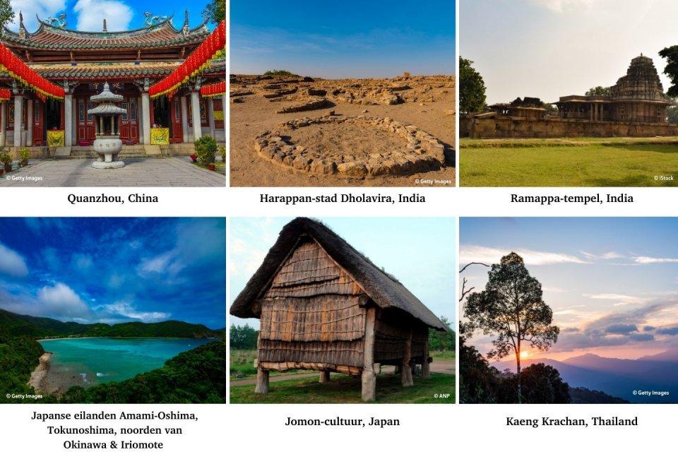 Unesco Werelderfgoederen 2021 van Azië