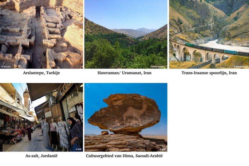 De nieuwe Werelderfgoederen van het Midden-Oosten