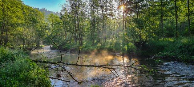 De Ourthe in de Belgische Ardennen