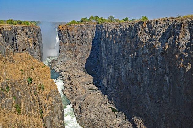 Victoria Falls zonder water in november 2019