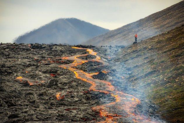 Vulkaan uitbarsting IJsland.
