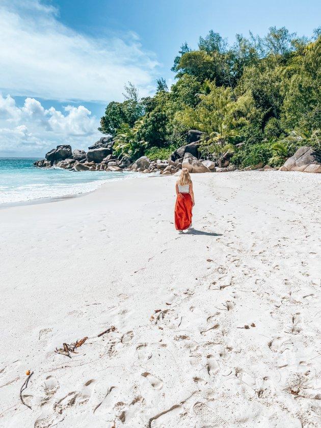 Lege stranden op de Seychellen