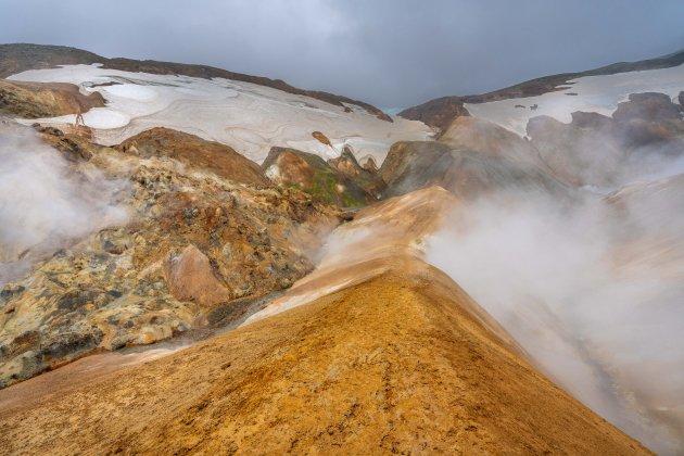Kleurrijke rhyolietbergen