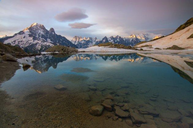 Reflectie bij Lac Blanc