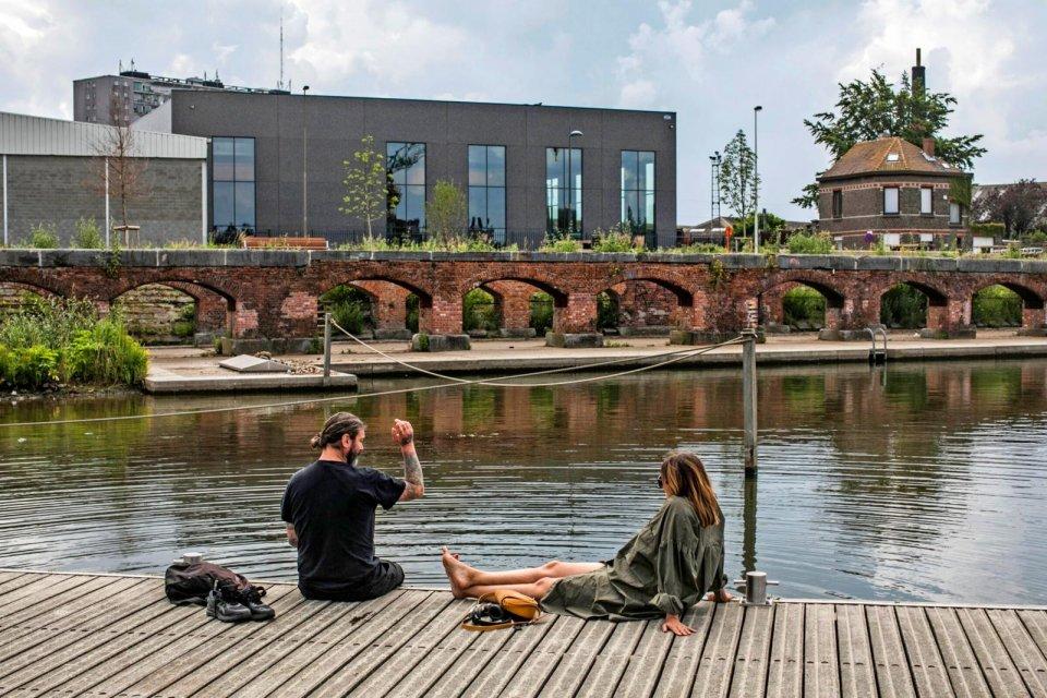 Kano of kijk kunst in industrieel erfgoed Kapitein Zeppospark CREDIT Bas Bogaerts © Stad Gent - Dienst Toerisme