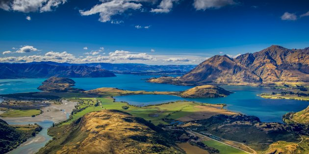 uitzicht op het Wanaka meer