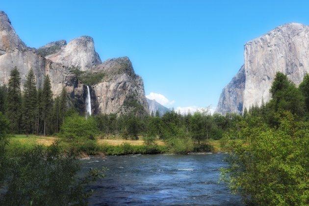 In de vallei van Yosemity