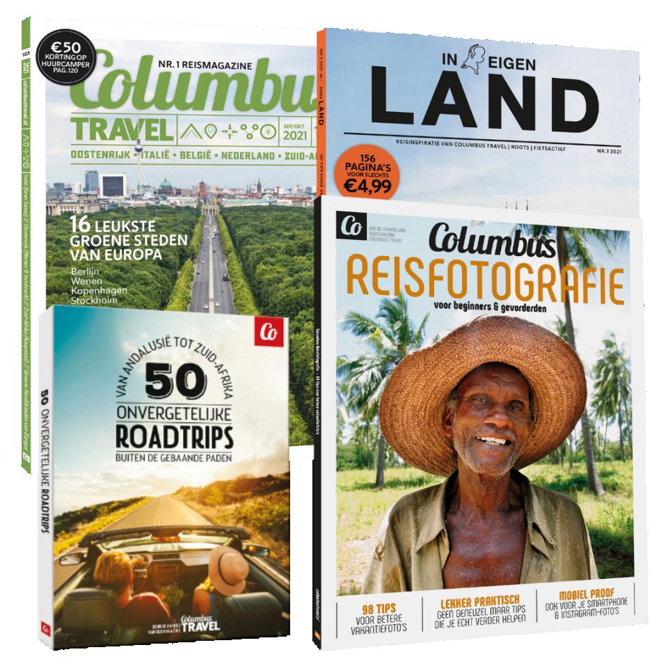 korting in de webshop van Columbus Travel