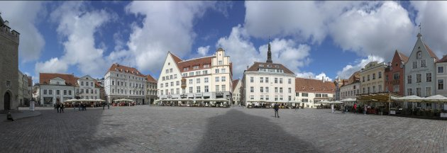 Estland Tallinn stadhuisplein
