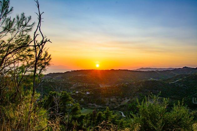 zonsondergang in Chalkidiki