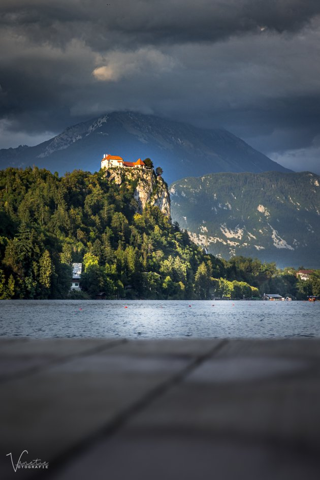 Castle Bled by Sunset
