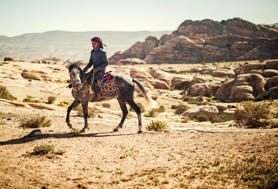 Paardentocht naar Little Petra, het kleine broertje van Petra, in Jordanië. Foto: Manon van der Zwaal.