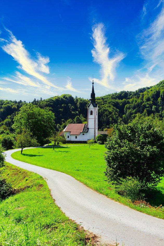 Sloveens kerkje Pri Cerkvi