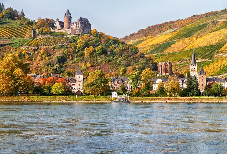 Bacharach aan de oever van de Rijn