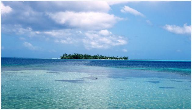 Eilandje in de stille oceaan