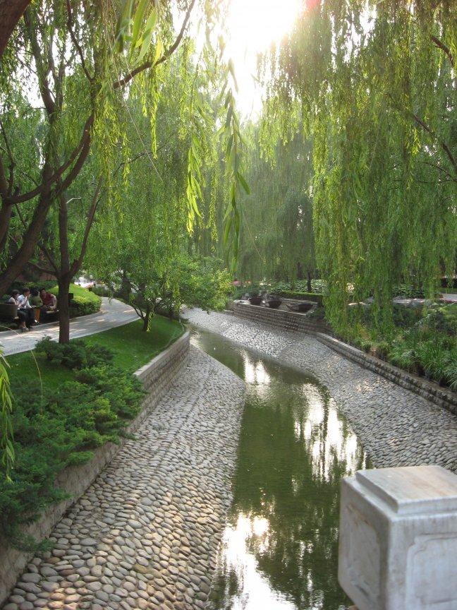 Kleine oase van rust bij de veboden stad