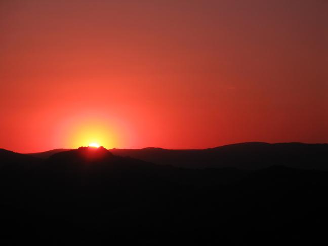 Sunset in Milwane