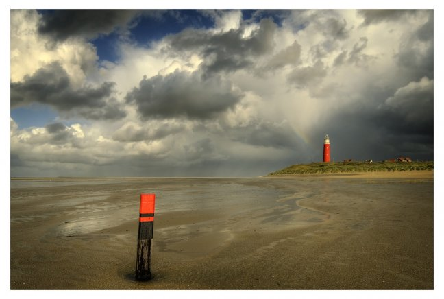 Lighthouse in Fall: Texel