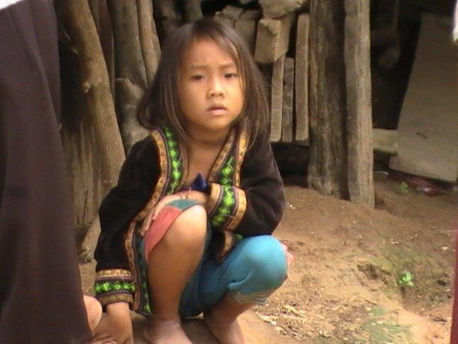 Laotiaans dorpsmeisje