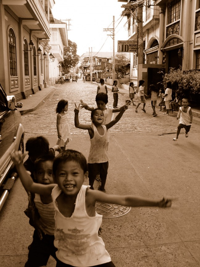 in the streets of Manila