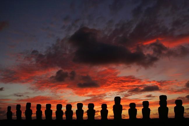 Zonsopkomst op Rapa Nui
