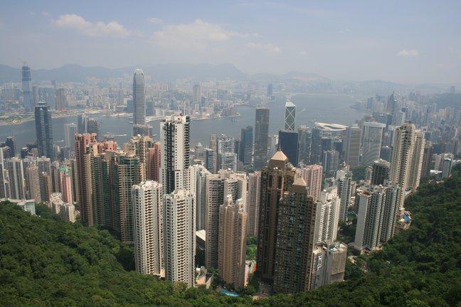 Uitzicht over Hong Kong