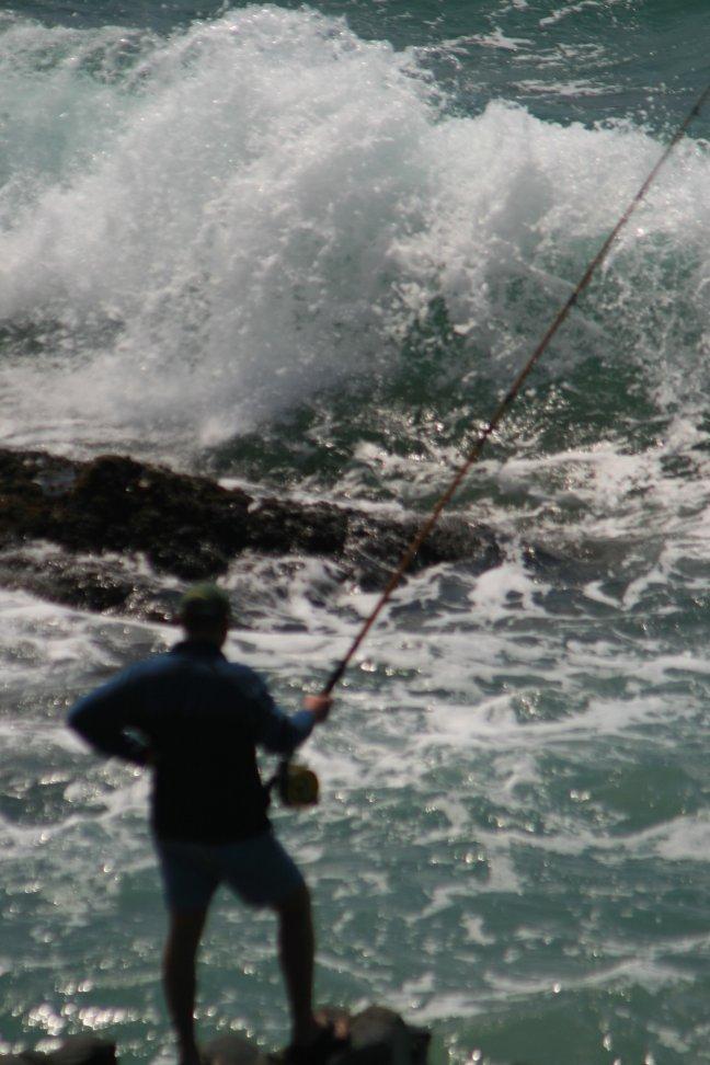 Heftige plek om te vissen