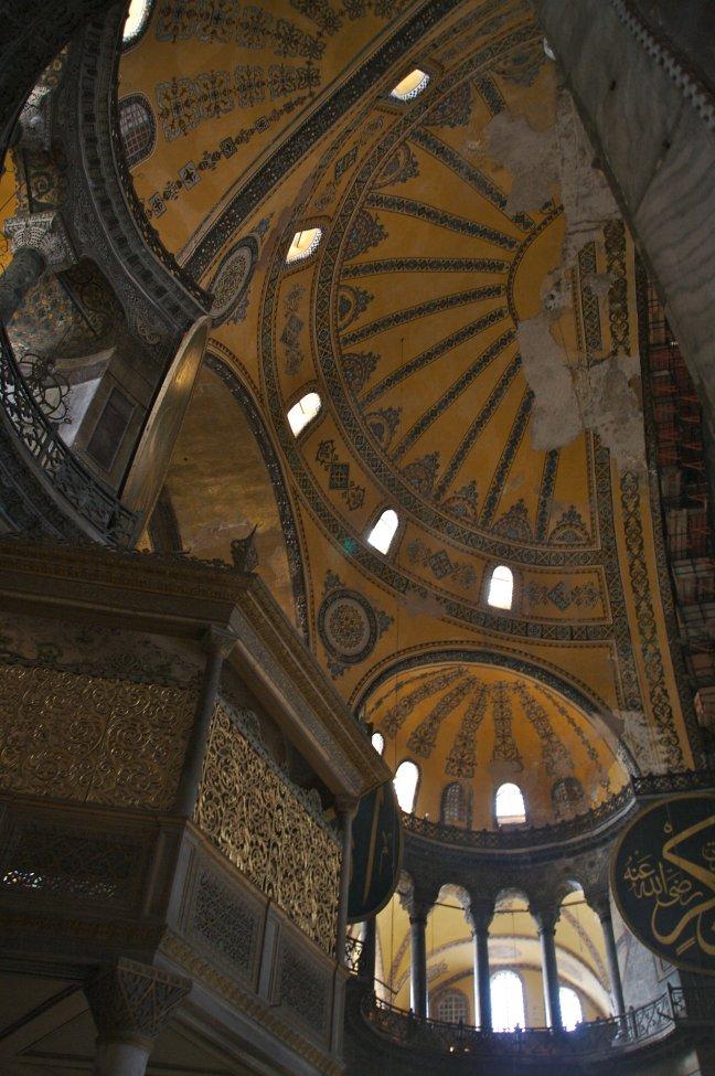 Het dak van de Aya Sophia