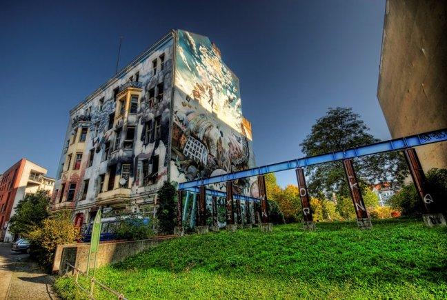 Graffitti in Oost-Berlijn